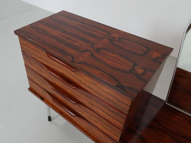1960s Rosewood Vanity Dressing Table 5