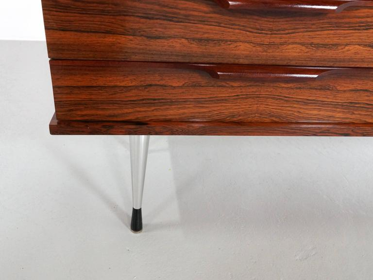 1960s Rosewood Vanity Dressing Table For Sale 1