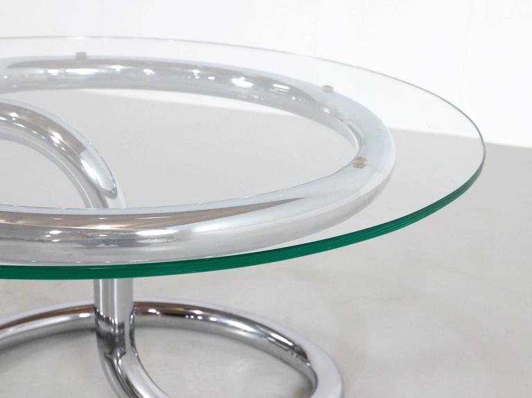 Paul Tuttle Anaconda Table in Glass and Chrome, 1970s For Sale 3