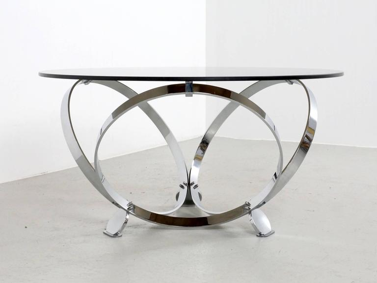 Round Chrome Coffee Table By Knut Hesterberg 1970 6