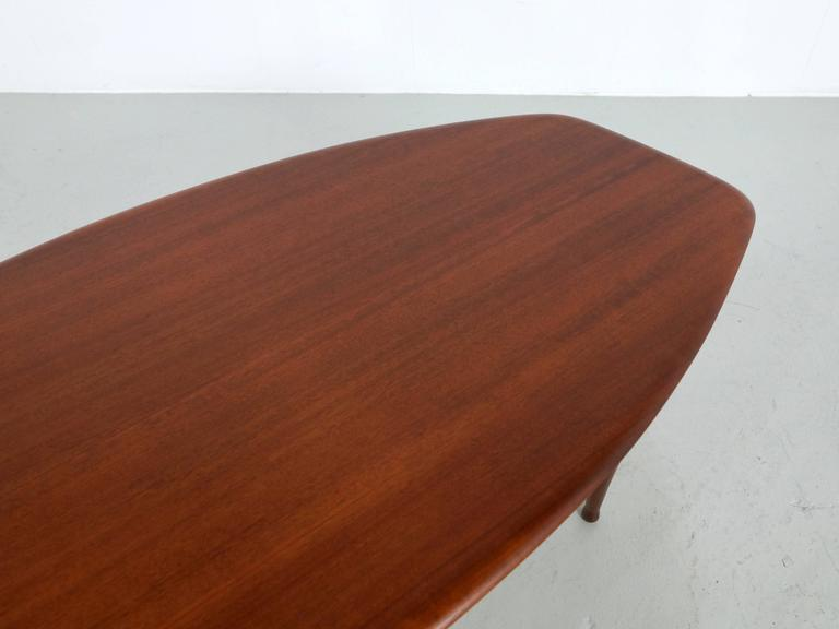20th Century Teak Coffee Table with Glass Magazine Shelve Underneath For Sale