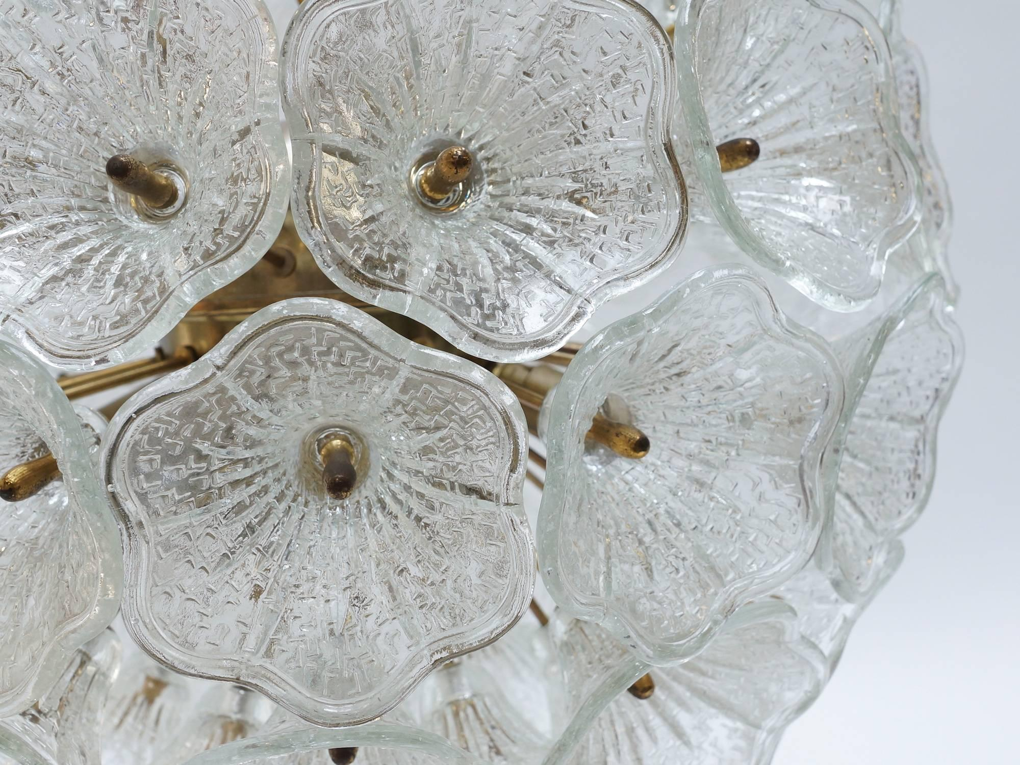 Brass and glass murano glass flower chandelier italy 1960s for brass and glass murano glass flower chandelier italy 1960s for sale at 1stdibs arubaitofo Image collections