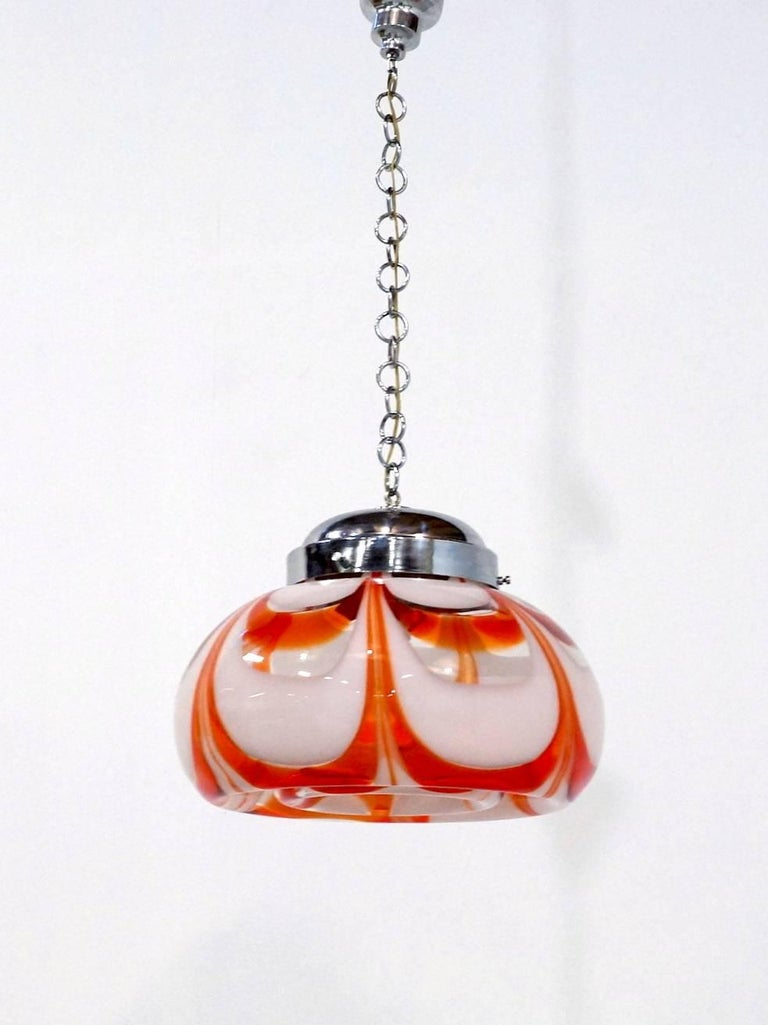 20th Century Large Italian Murano Glass Pendant Light by Carlo Nason 1960s for Mazzega For Sale