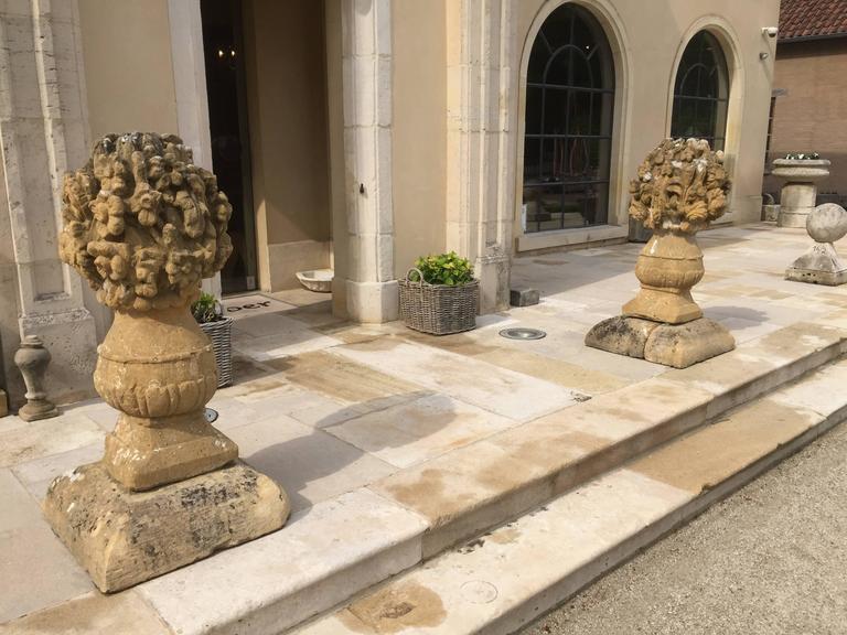 Baroque 17th Century Stone Flower Vases For Sale