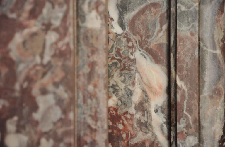 17th Century Monumental Chimneypiece Royal Red and Carera Marble In Good Condition For Sale In Vosselaar, BE