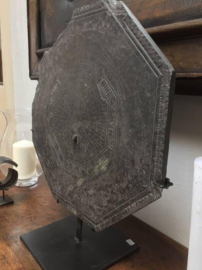18th Century Slate Stone Sundial For Sale at 1stdibs