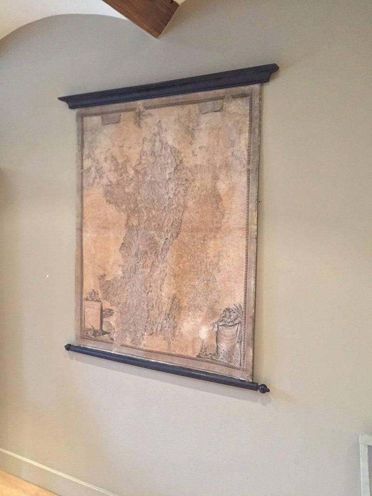 Neoclassical 18th Century Map of the Bourgogne Region For Sale