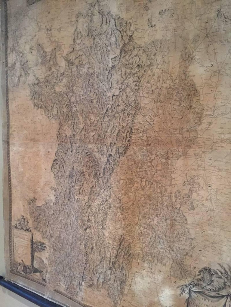 18th Century Map of the Bourgogne Region In Good Condition For Sale In Vosselaar, BE