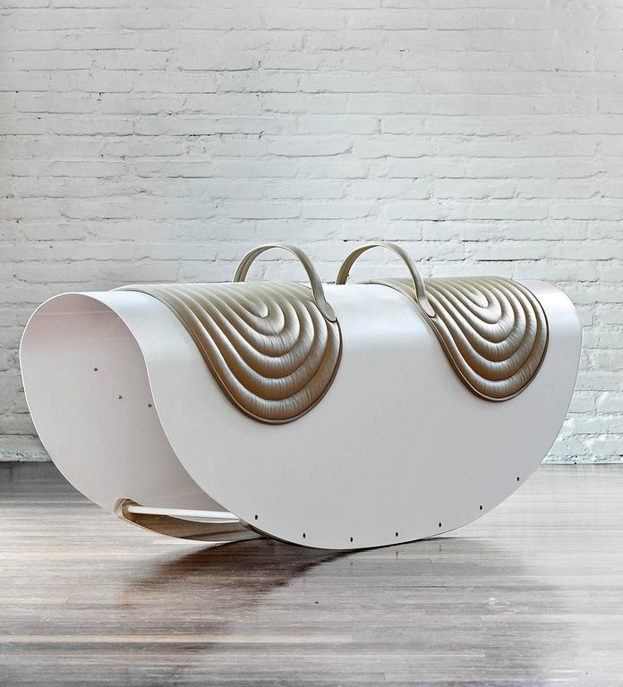 With this Rocker, Lanzavecchia and Wai demonstrate how children's play, through a sophisticated design process, can be transformed into refined grown-up objects with meaning and intent. It combines skillful craftsmanship with serial production and