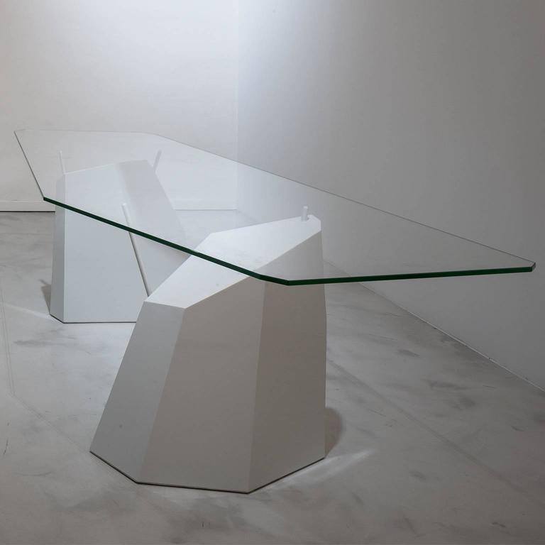 Modern Deriva Steel and Crystal Dining Table For Sale