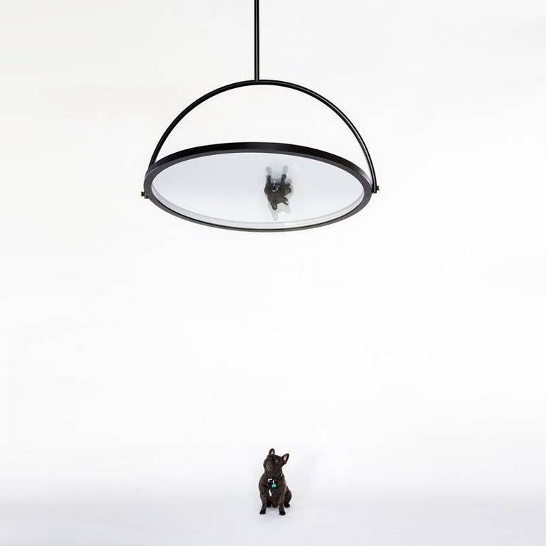 Oblio Mirrored Suspension Lamp For Sale 1