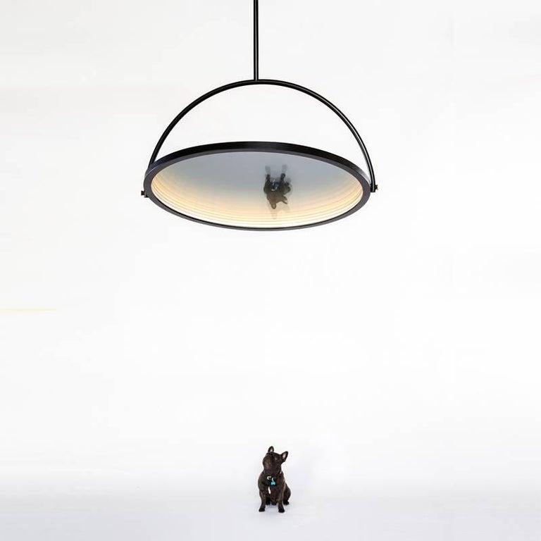 Contemporary Oblio Mirrored Suspension Lamp For Sale