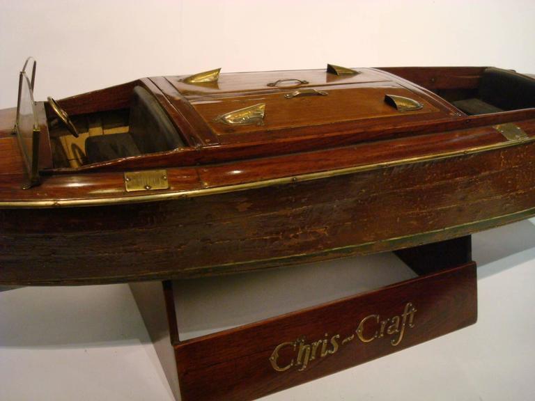 Argentine Chris Craft Speedboat Sales Model, circa 1930s Nautical For Sale
