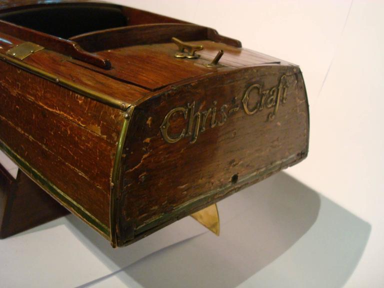 Chris Craft Speedboat Sales Model, circa 1930s Nautical For Sale 1