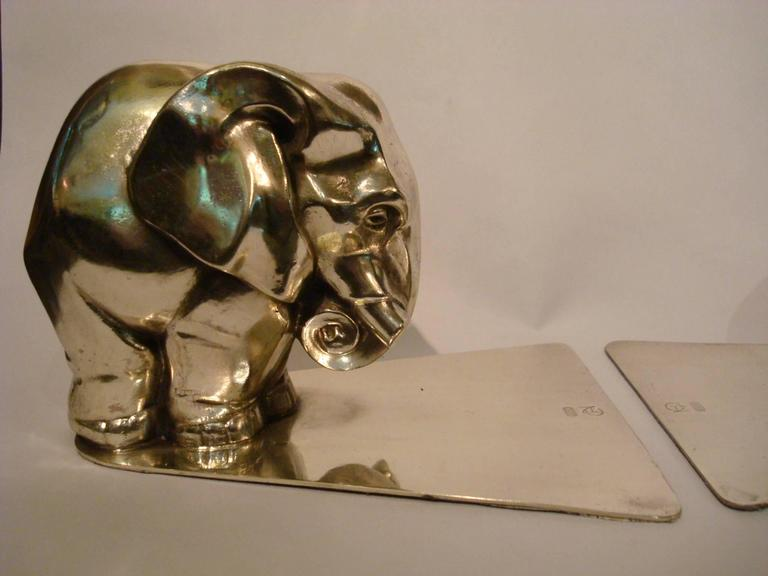 pair of art deco elephant bookends by george nilsson for. Black Bedroom Furniture Sets. Home Design Ideas