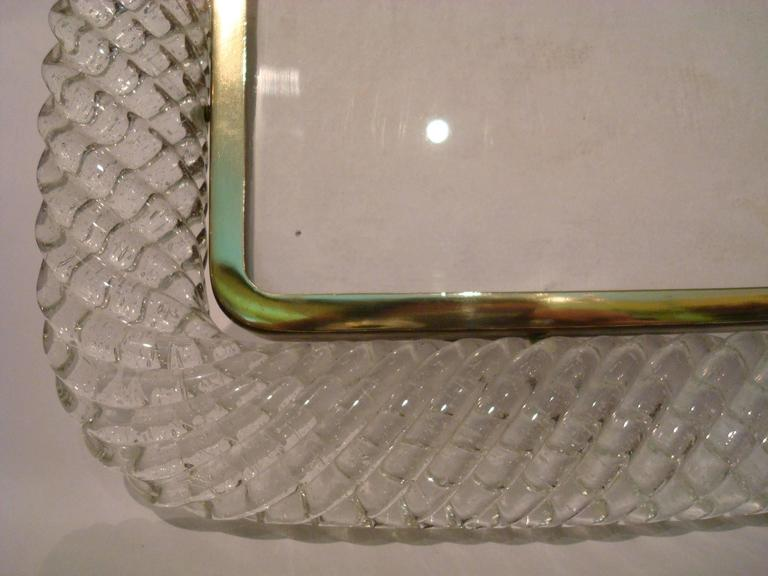 Elegant Venini Murano Twisted Glass Rope Picture Frame, Italy, 1940s For Sale 1