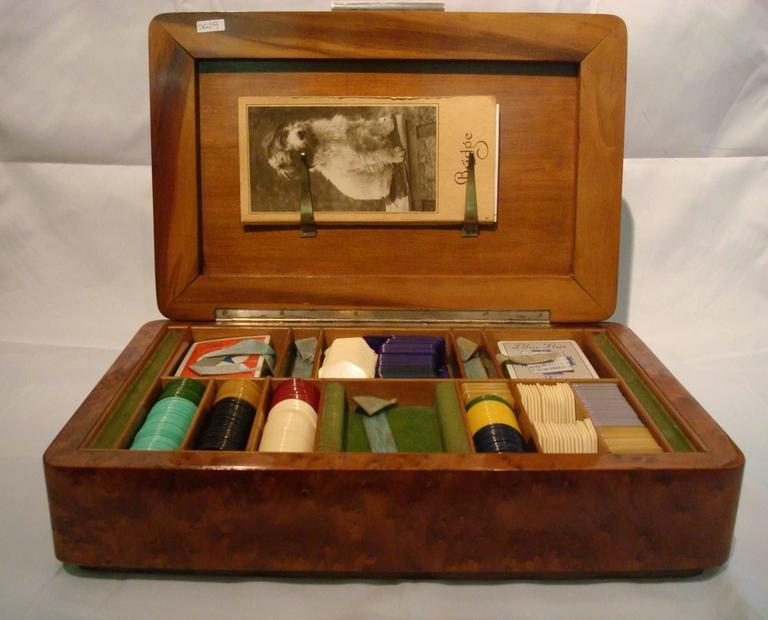 Italian Art Deco Game Box Silver, Italy, 1920s For Sale