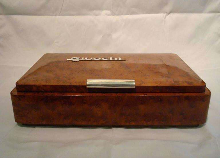 Art Deco Game Box Silver, Italy, 1920s In Good Condition For Sale In Buenos Aires, Olivos