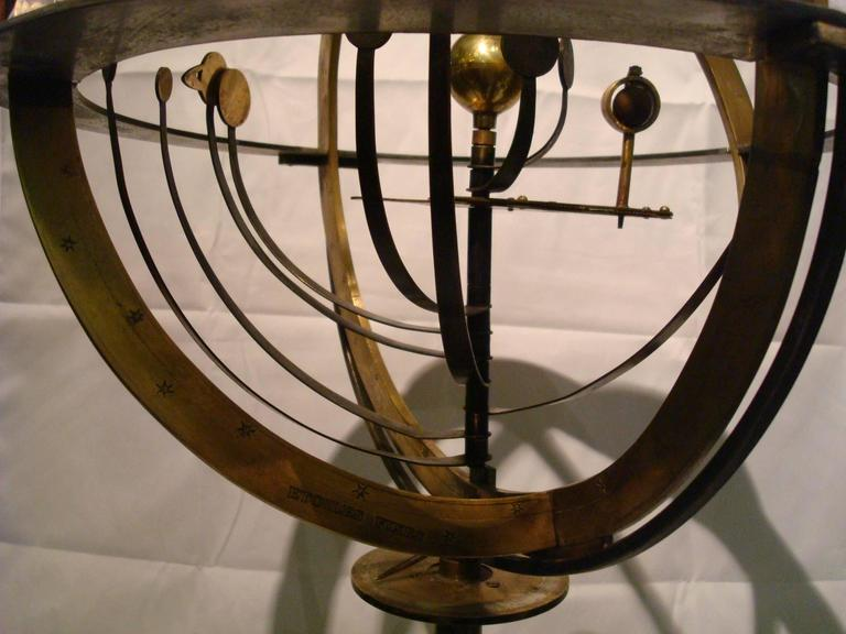 Victorian Fantastic Zodiac Armillary Sphere, Galaxy Globe, France For Sale