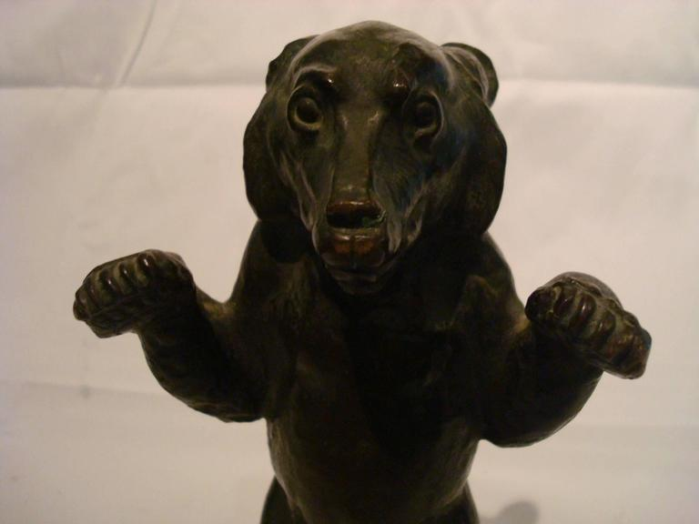 Young Bear Bronze Figure In Good Condition For Sale In Buenos Aires, Olivos