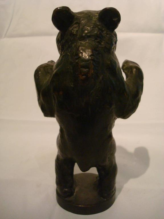 Young Bear Bronze Figure For Sale 2