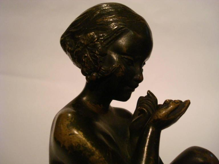 Art Deco Bronze Bookends with Satyr and Girl by Pierre Laurel, 1930 3