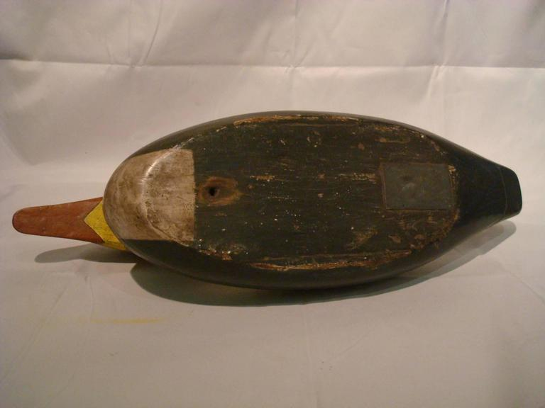 Hen Merganser Hunting Decoy attributed to John Dawson Folk Art, Americana In Good Condition For Sale In Buenos Aires, Olivos