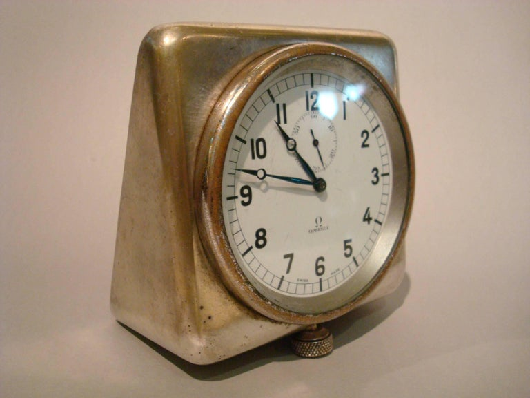 Art Deco Rare Nautical Omega Clock Royal Navy Submarine, Ship, 8 Days For Sale