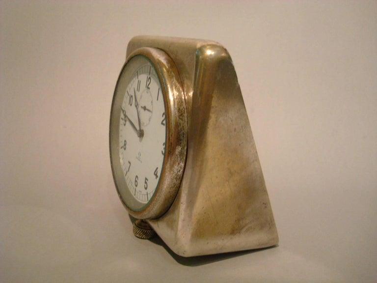 Swiss Rare Nautical Omega Clock Royal Navy Submarine, Ship, 8 Days For Sale
