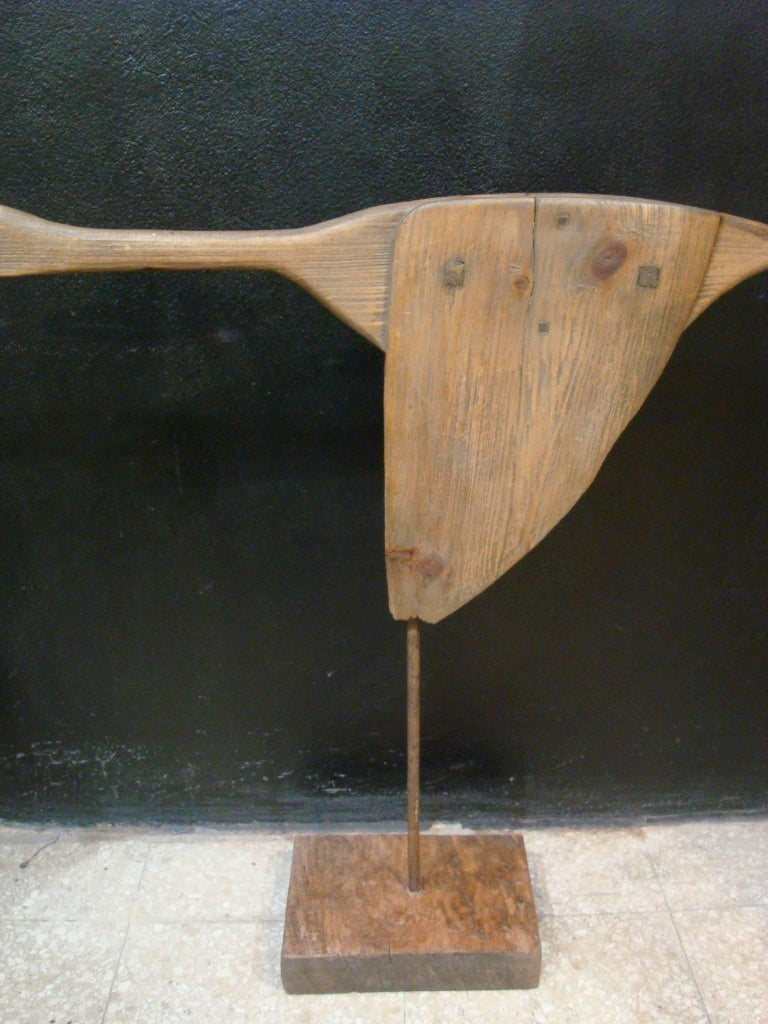 Carved Wooden Flying Goose Duck Sculpture For Sale At 1stdibs