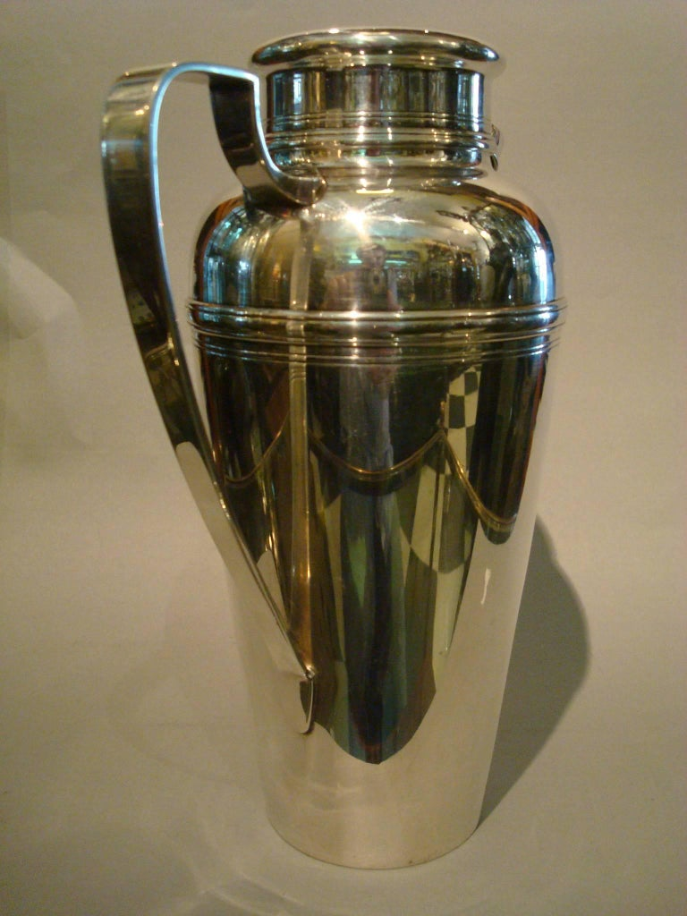 Tiffany & Co Art Deco Sterling Silver Cocktail Shaker, 1920s 3