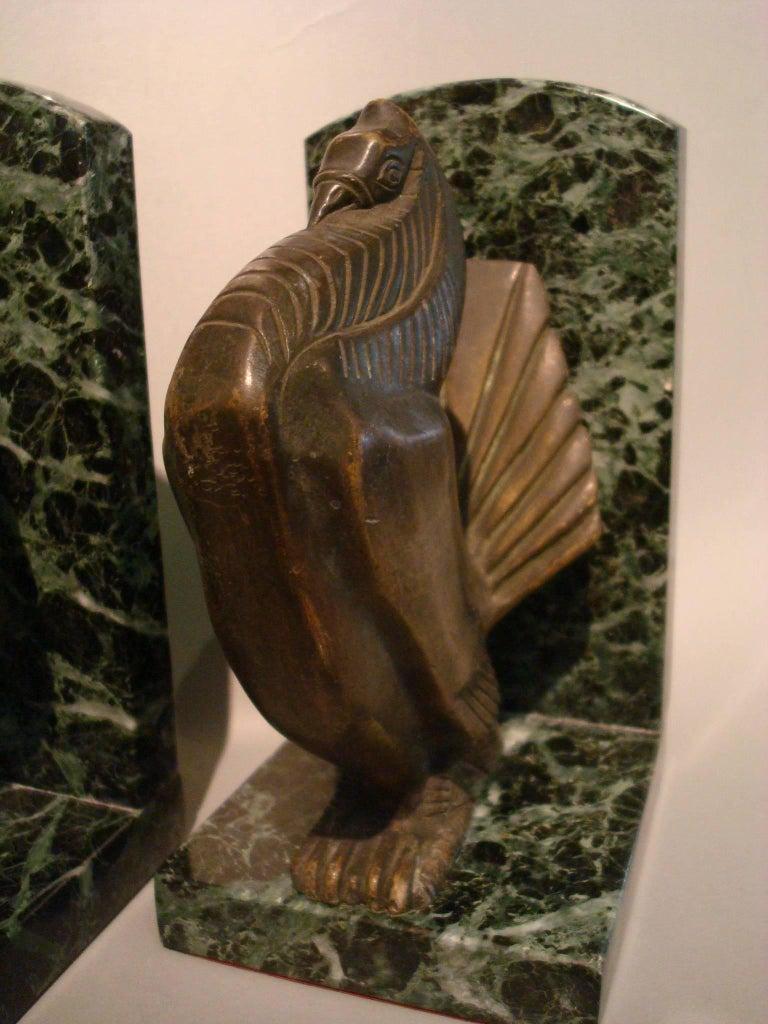 Art Deco Turkey Bronze Bookends Signed Irenee Rochard For Sale 1