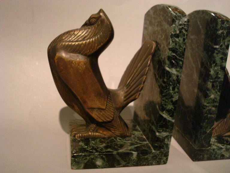 French Art Deco Turkey Bronze Bookends Signed Irenee Rochard For Sale