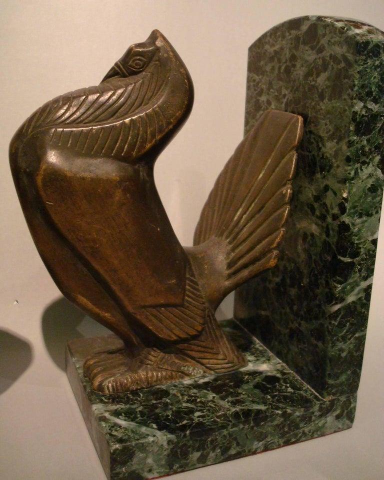 Art Deco Turkey Bronze Bookends Signed Irenee Rochard For Sale 5