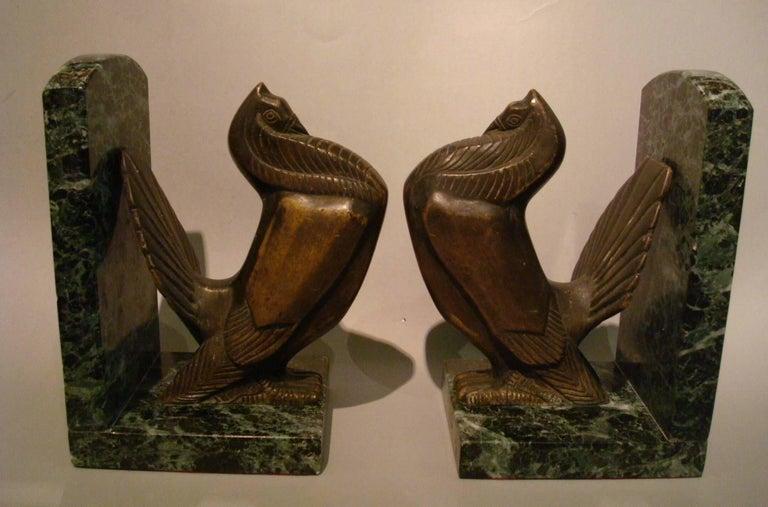Art Deco Turkey Bronze Bookends Signed Irenee Rochard For Sale 4