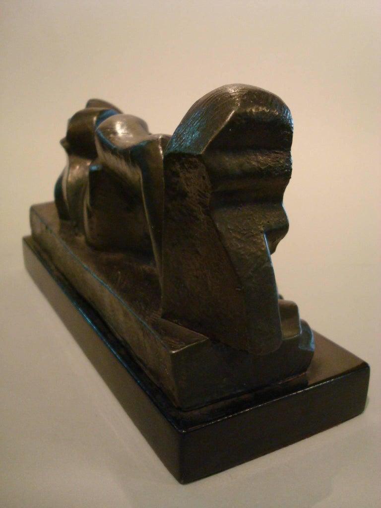 Art Deco, Cubist Lying Women Sculpture by Pablo Curatella Manes, 1920s For Sale 1