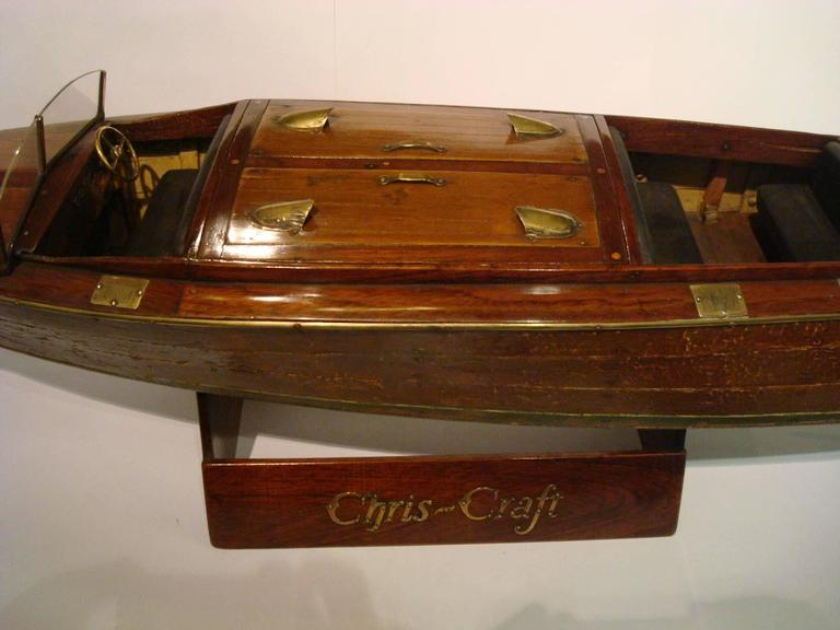 Chris Craft Speedboat Sales Model, circa 1930s Nautical In Good Condition For Sale In Buenos Aires, Olivos