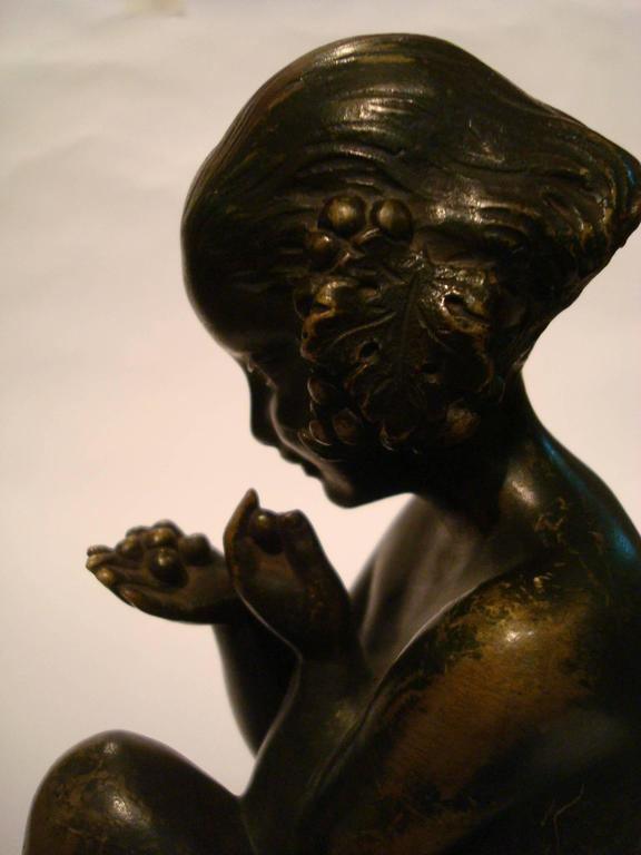 Art Deco Bronze Bookends with Satyr and Girl by Pierre Laurel, 1930 6
