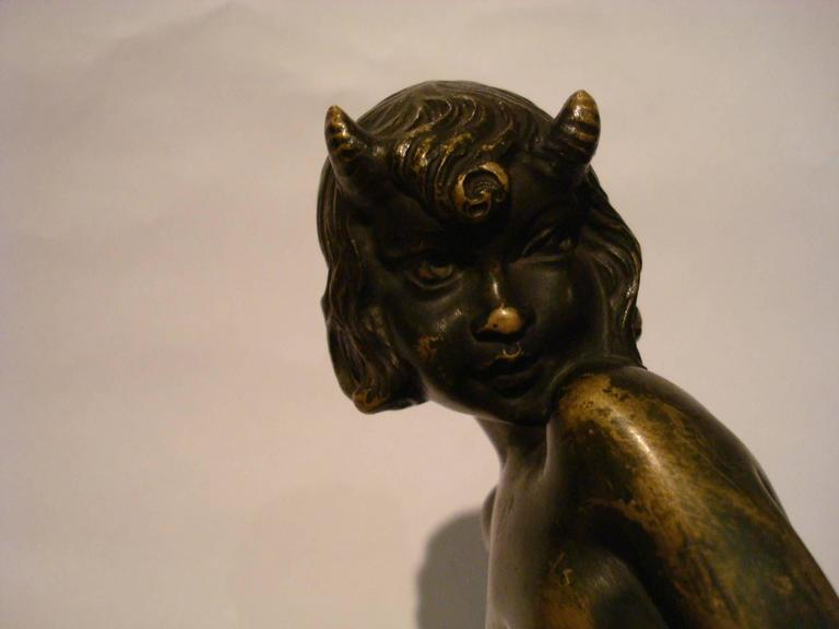 Art Deco Bronze Bookends with Satyr and Girl by Pierre Laurel, 1930 8