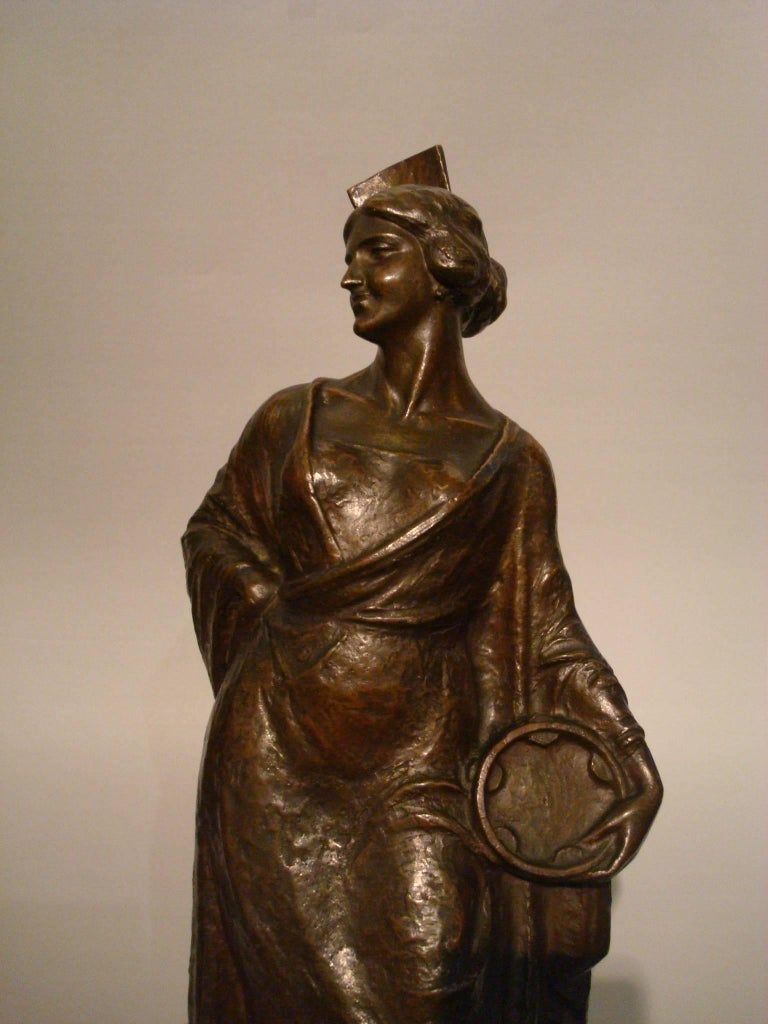 Spanish Flamenco Dancer Bronze Women Figure, 1920s For Sale 5