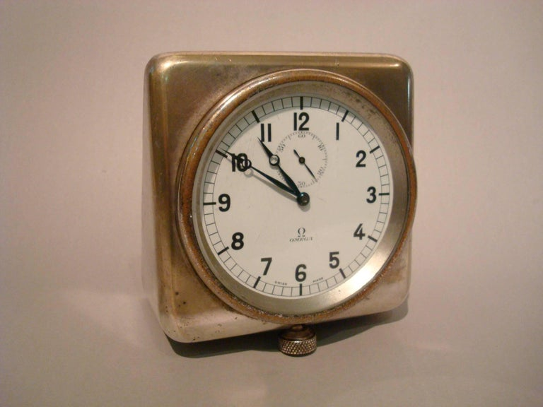 Rare Nautical Omega Clock Royal Navy Submarine, Ship, 8 Days In Good Condition For Sale In Buenos Aires, Olivos
