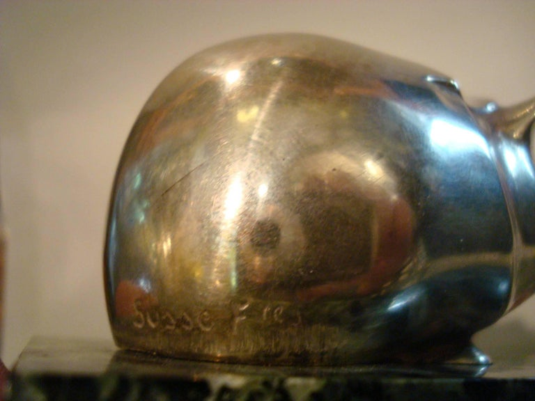 Early 20th Century Art Deco Edouard Marcel Sandoz Guinea Pig Bronze Paperweight For Sale