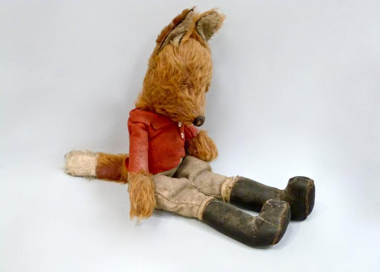 20th Century Toys : Th century stuffed clothed fox at stdibs