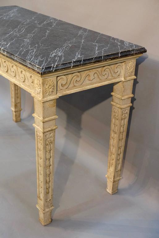 French Console Table 19th century french painted console table for sale at 1stdibs