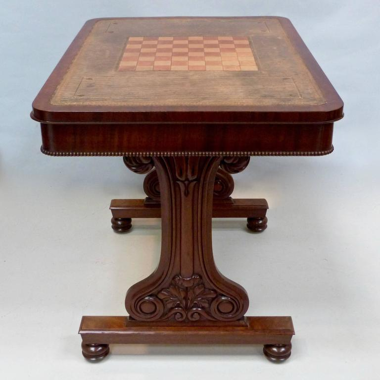 George Iv Mahogany Chess Table For Sale At 1stdibs