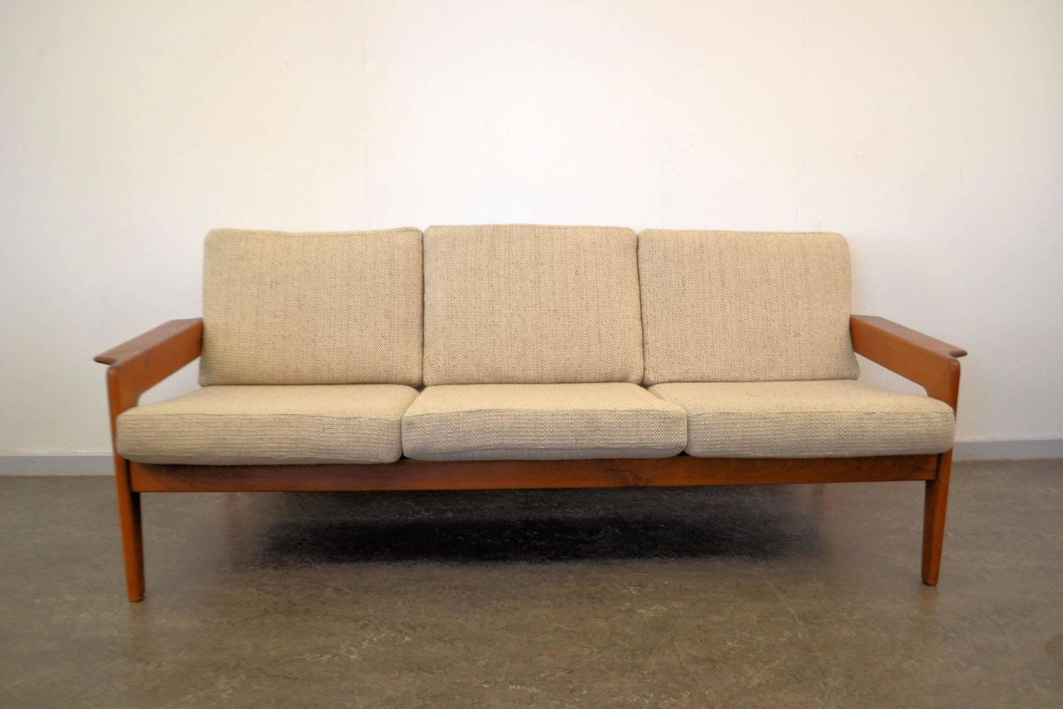 danish modern arne wahl iversen three seat sofa for sale at 1stdibs. Black Bedroom Furniture Sets. Home Design Ideas