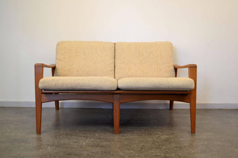 arne wahl iversen two seating teak sofa for sale at 1stdibs. Black Bedroom Furniture Sets. Home Design Ideas