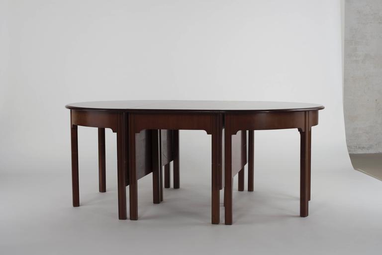 Scandinavian Modern Kaare Klint Extendable Dining Table For Sale