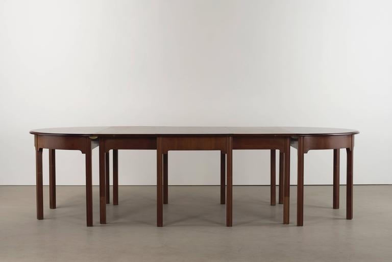 Danish Kaare Klint Extendable Dining Table For Sale