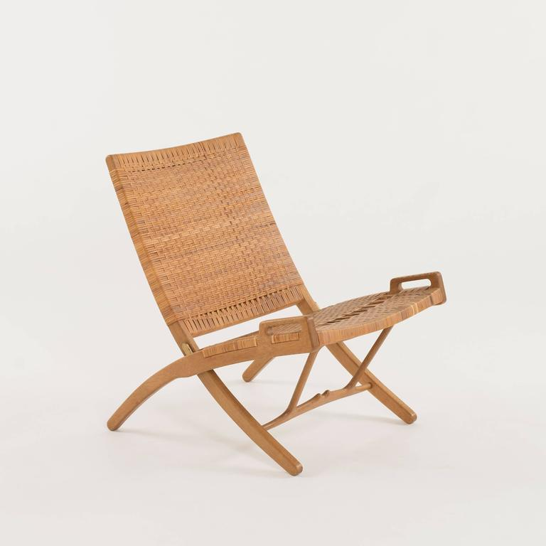 Danish Hans J. Wegner Folding Chair for Johannes Hansen For Sale